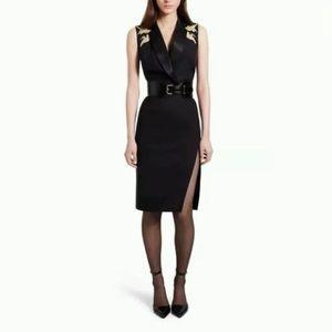 Altuzarra for Target Black Dress Gold Cranes 10